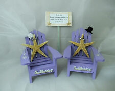 Wedding Reception Real Starfish Adirondack Beach Chairs Veil & Hat Cake Topper