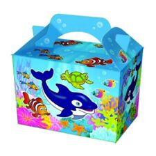 10 Ocean Sealife Nemo P/W Meal Boxes ~ Birthday Party Food Bag ~ Picnic Box