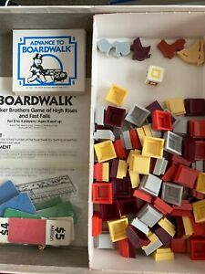 Advance To Boardwalk board game Replacement Parts Pieces Parker Bros