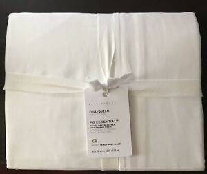 Pottery Barn White Essential 300Thread Count Sateen Duvet Cover New W/ $79.00Tag