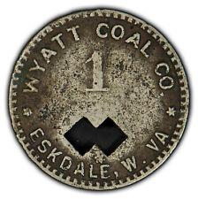 Mercantile Coal Mine Scrip Token - 1 Orco Wyatt Coal Co Eskdale WV - X1530