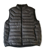 Free Country Mens Down Vest Sleeveless Coat Jacket Puffer Gray Pockets Large