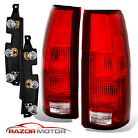 88-99 Tail Lights Pair For Chevy/GMC Silverado Tahoe Sierra + Connector Circuit