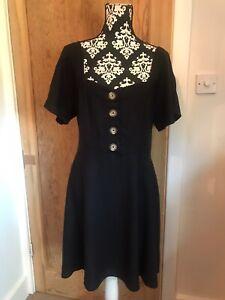 Simply Be Black Linen Little Dress Size 18