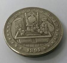 Novedad 1891 Morgan dólar Scrooge McDuck el tiempo es dinero Hobo Fantasía Moneda Rara