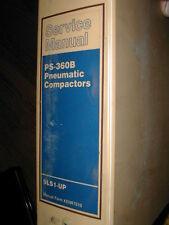 CAT Caterpillar PS-360B SERVICE SHOP REPAIR MANUAL COMPACTOR PNEUMATIC TIRE, 9LS