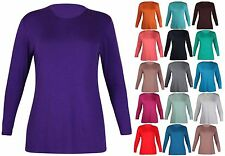 Women's Plus Size Long Sleeve Sleeve Stretch Crew Neck Tops & Shirts