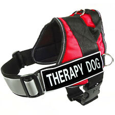Reflective Service Dog Harness Nylon Therapy Dog Vest With Removable 2 Patches