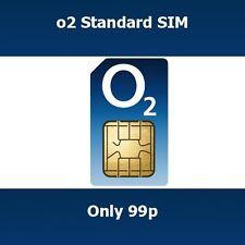 New O2 UK Trio STD Micro & Nano SIM Card Get Bonus Mins & Texts When You Top Up