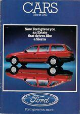 Ford Cars March 1983 UK Market Sales Brochure Fiesta Escort Sierra Capri Granada