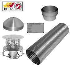 6M 6ins multifuel liner & install kit(pot installation) woodburner logburner
