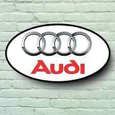 AUDI LOGO 2FT LARGE GARAGE SIGN WALL PLAQUE CAR CLASSIC WORKSHOP MECHANIC RS4