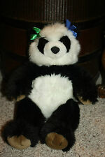 "Build a Bear PANDA Black White Plush 15"" w/ Hair Bows BAB Pawsome    I1"