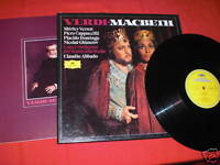 3 LP Box Verdi Macbeth Domingo Abbado + Libretto MINT