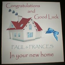 HANDMADE PERSONALISED CONGRATULATIONS AND GOOD LUCK IN YOUR NEW HOME CARD