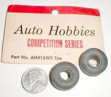 """1 Pair Slot Car Rubber Tires 1/32 Auto Hobbies 5/16"""" X 7/8"""" Vintage Original NOS"""