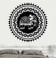 Vinyl Wall Decal India Elephant Circle Symbol Home Design Stickers (761ig)