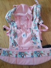 Standard Ergo Baby Carrier Pink Floral Girl Pockets Cover Euc