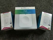 Samsung SmartThings Hub F-Hub-Us-2 Outlet - White w/ 2 smart dimmer switches