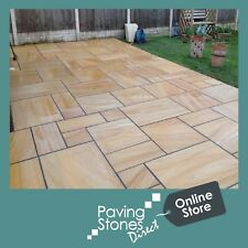 Teakwood Indian Paving Flags Pavers - 2 Day Delivery Natural stone 900x600 Sale✔