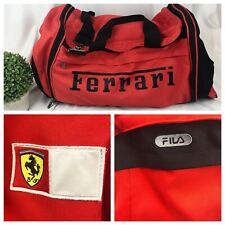 AUTHENTIC Ferrari Fila Formula 1 Scuderia Team Duffel Bag Travel Luggage