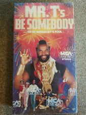 RARE Mr. T's Be Somebody Or Be Somebody's Fool VHS -STILL SEALED-