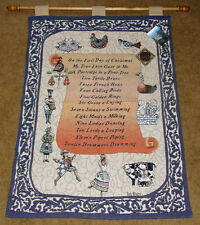 Jim Shore Twelve Days of Christmas Tapestry Wall Hanging ~ Retired Hard To Find