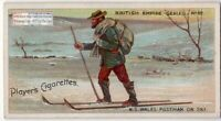 New South Wales Australia Postman On Snow Skis 100+ Y/O Trade Card