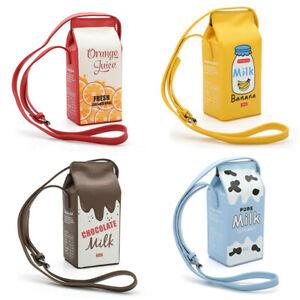 Creative Kawaii Harajuku Milk Box Cartoon Purse Portable Handbag Shoulder Bag