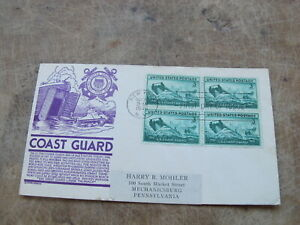 1945 United States Stamp cover -World War 2 landing craft / Coast Guard