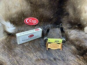 1997 Case 32131 Canoe Knife Yellow Handles - Mint In Box - 69A