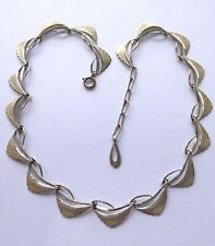 Vintage Sterling Silver Necklace 1960s MCM Mid Century Modern