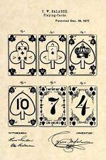 Original Playing Cards Poker US Patent Art Print- Official Vintage Antique 175