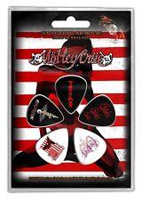 Motley Crue Red White Guitar Pick 5 Pack Plectrum Picks Set Metal Band Merch