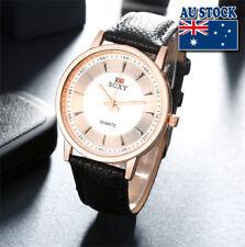 Black Leather Golden Luxury Classic man Wrist Watch