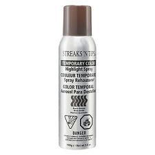 Streaks 'N Tips TEMPORARY HIGHLIGHT HAIR COLOR SPRAY - BURNT BROWN  3.5oz