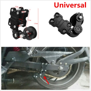 1pcs Motorcycle Chain Adjuster Tensioner Bolt On Roller Universal Aluminum Black