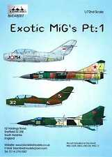 Blackbird Decals 1/48 EXOTIC MiG FIGHTERS MiG-15 MiG-17 & MiG-23