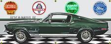 1968 SHELBY COBRA GT350-H HERTZ GREEN CAR GARAGE SCENE BANNER SIGN ART 2' X 5'
