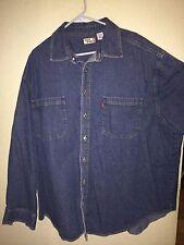 Levi's Jean jacket<>Men's 2XL, XXL<>long sleeve<>100 % cotton