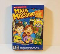 Math Missions The Amazing Arcade Adventure PC CD-Rom Windows Mac 2003 kids game