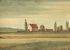 Max Radler (1904 Breslau-1971 München) : Stille Landschaft im November '44