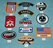 Various Karate Embroidered Patches, New
