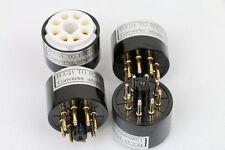 2pc Gold plated ECC31 6N7G TO 6SN7 CV181 B65 ECC33 ECC32 tube converter adapter