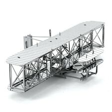 Fascinations Metal Earth 3D Laser Cut Steel Model Kit Wright Brothers Airplane