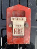 Vintage Gamewell Fire Alarm Pull Station Metal Box