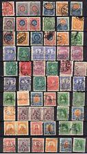 60 timbres anciens Mexique Mexico Oblitérés