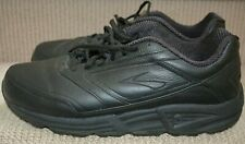 Mens Brooks Addiction Walker Black Leather Shoes US 11.5 wide fit - close to new