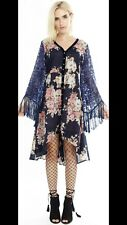 NWT Aratta The Most Magical  Dress S Night Blue Floral