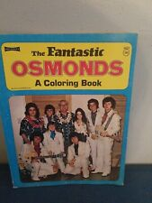 Vintage 1970s The Osmonds Activity Coloring book Donny & Marie's Tv Series Abc